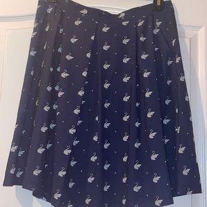 Louche NWT navy swan skirt 2 available UK 14-16